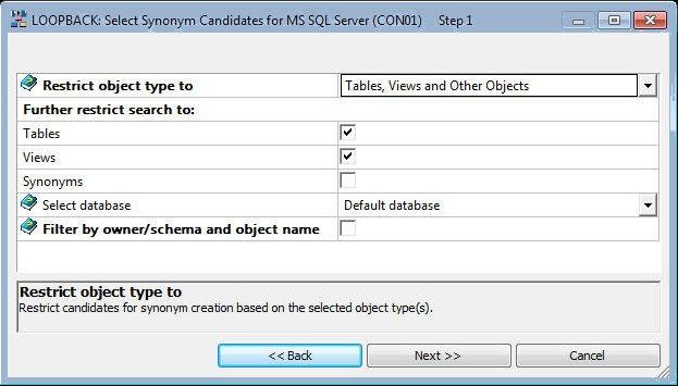 Creating metadata select synonym candidates dialog box m4hsunfo