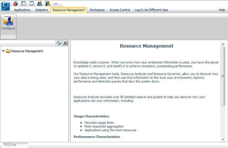Configuring Resource Management