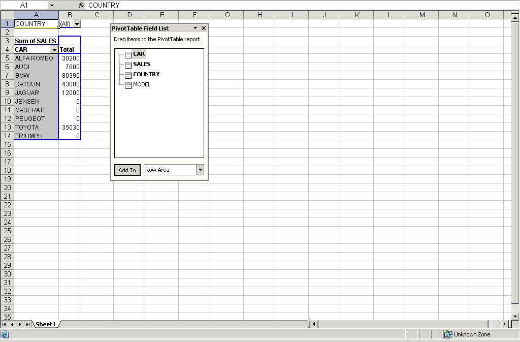 Saving Reports Using Excel Formats