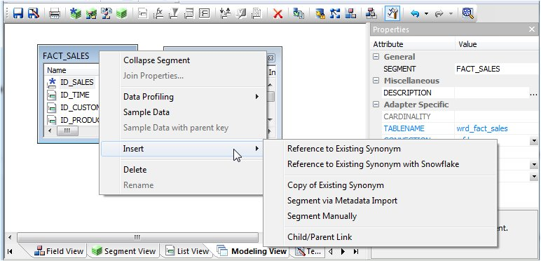 Enhancing Synonyms Using the Modeling View
