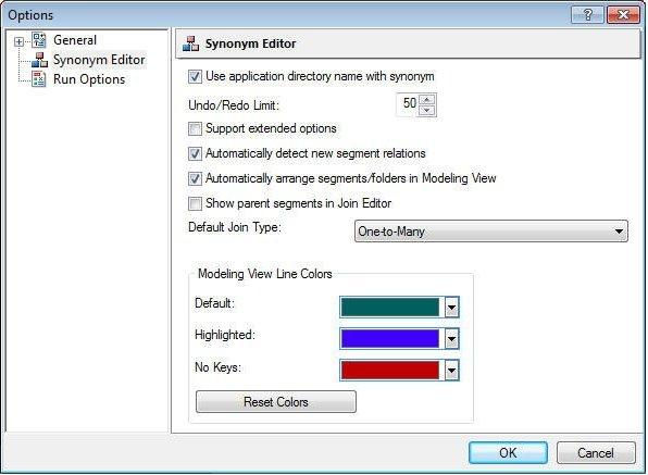 Synonym Editor Layout